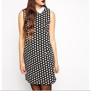ASOS Reclaimed Vintage Shift Dress Shell Print